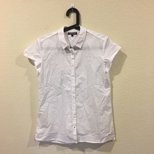 Tommy Hilfiger short sleeve white button up top
